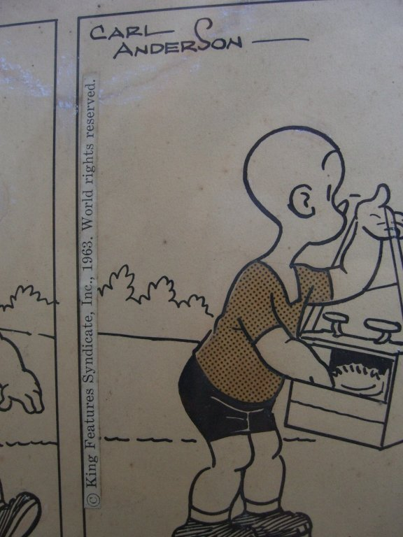 Carl Anderson comic strip drawing - 3