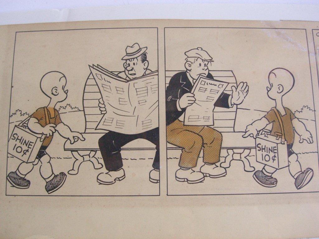 Carl Anderson comic strip drawing - 4