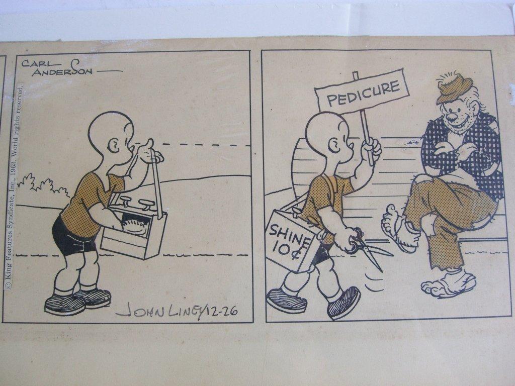 Carl Anderson comic strip drawing - 5