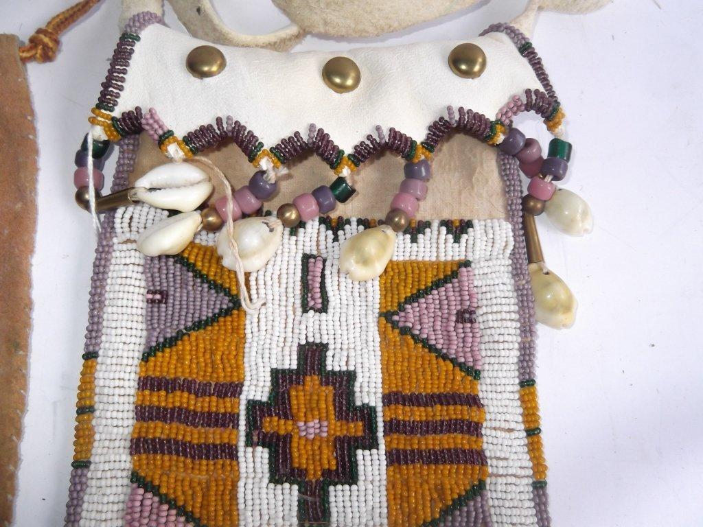 2 Oklahoma Indian beaded buckskin purses - 3