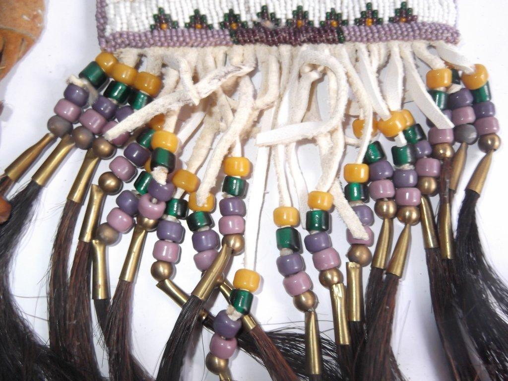 2 Oklahoma Indian beaded buckskin purses - 4