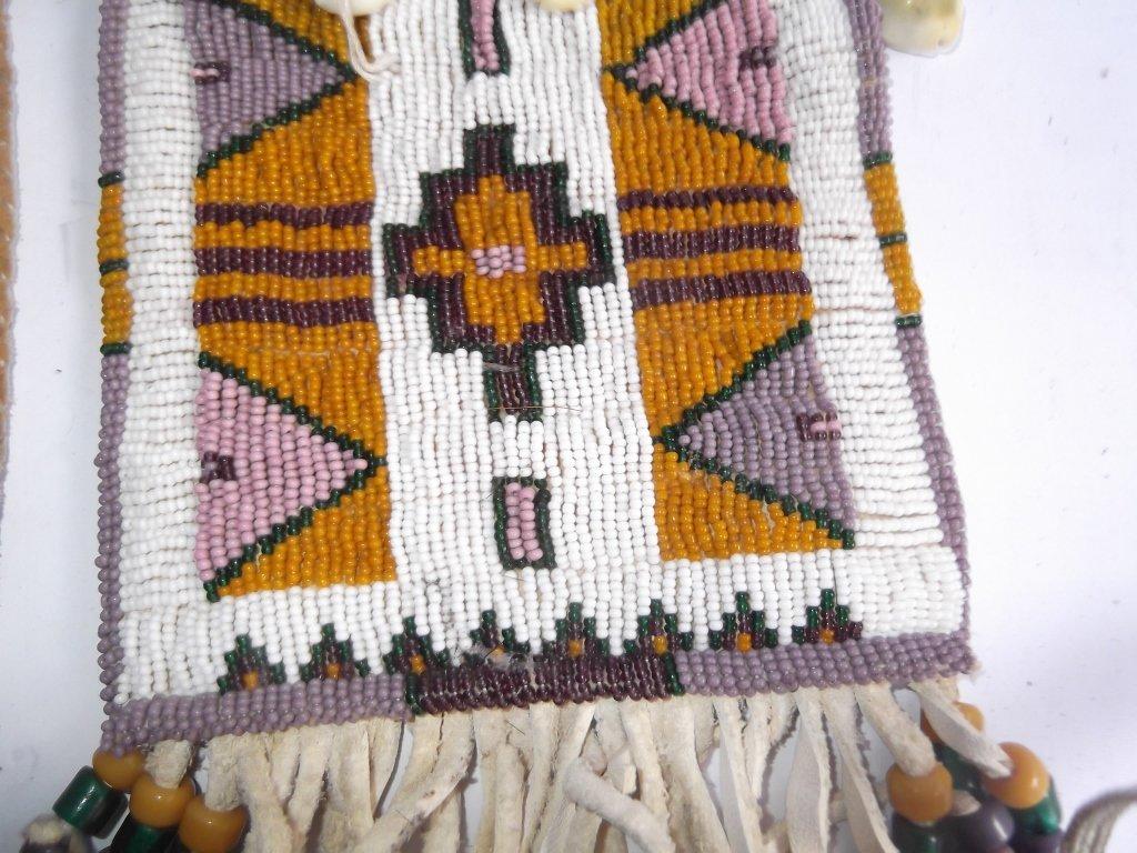 2 Oklahoma Indian beaded buckskin purses - 5
