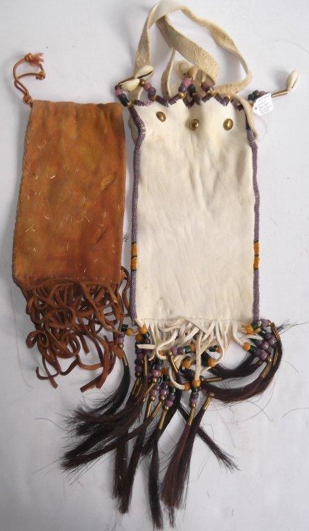 2 Oklahoma Indian beaded buckskin purses - 6