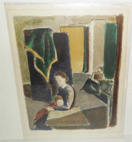 Lithograph signed J. Floch