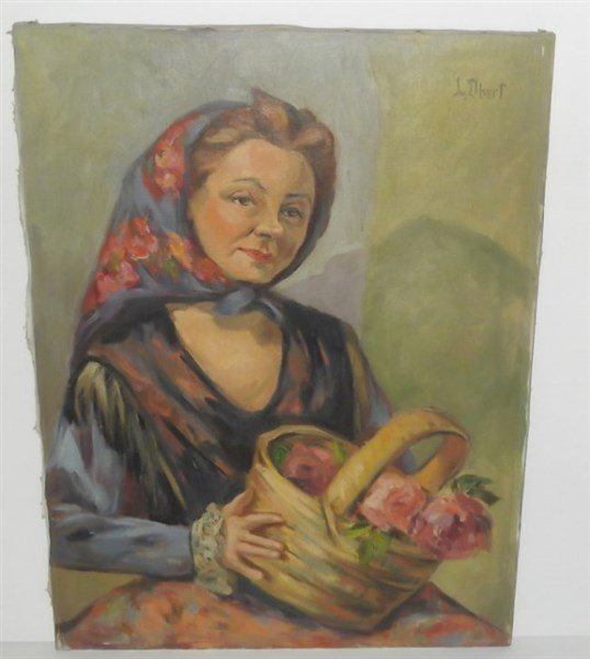 Oil on canvas signed L. Obert