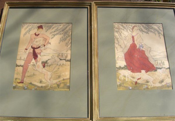 2 1937 watercolors signed