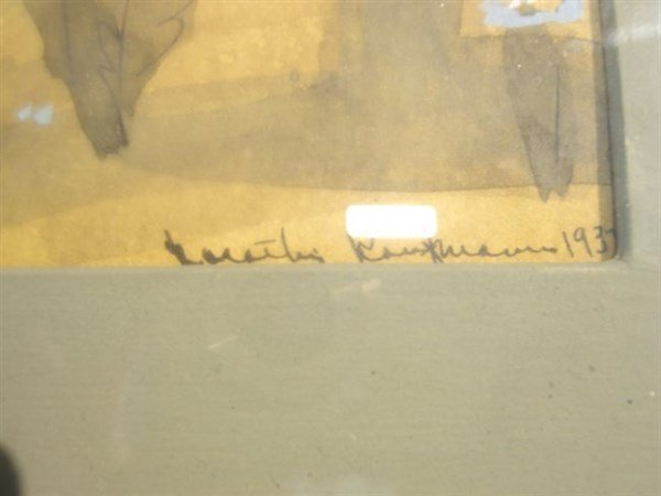 2 1937 watercolors signed - 3