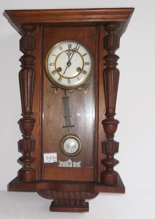 Vintage wall hanging clock