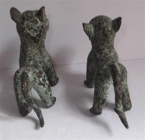 2 Benin bronze leopard figures - 5