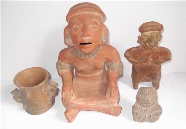 4 piece 20th c. Mexican hand crafted statues