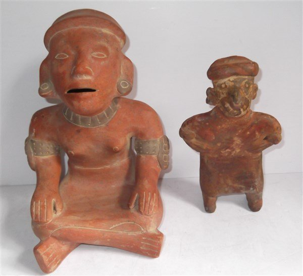 4 piece 20th c. Mexican hand crafted statues - 2