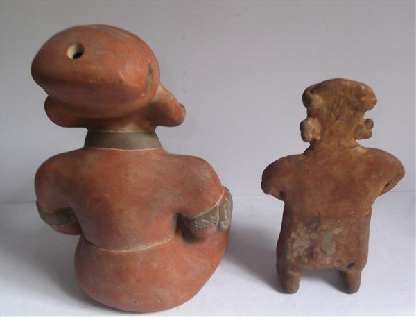 4 piece 20th c. Mexican hand crafted statues - 3