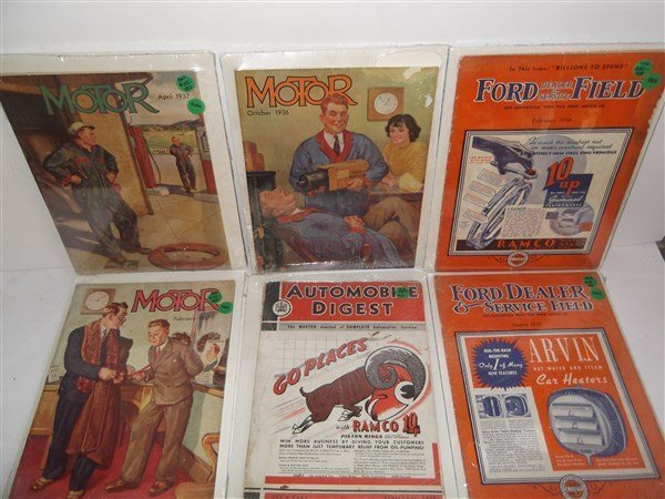 6 car/automobile magazines