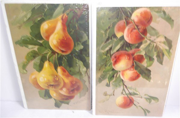 8 fruit chromolithographs - 2