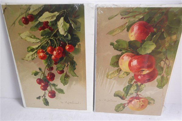 8 fruit chromolithographs - 4