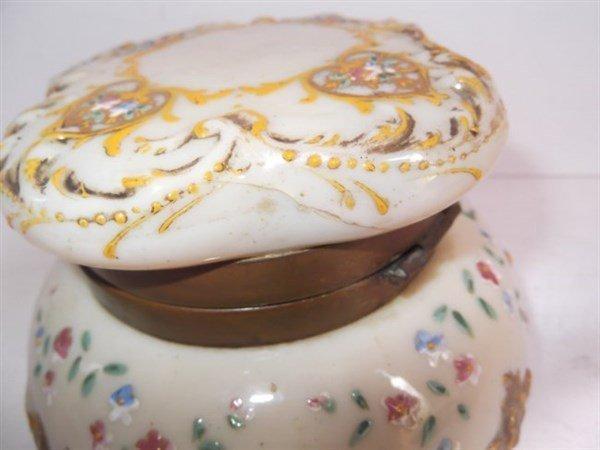 Victorian Bristol glass jewelry casket - 2