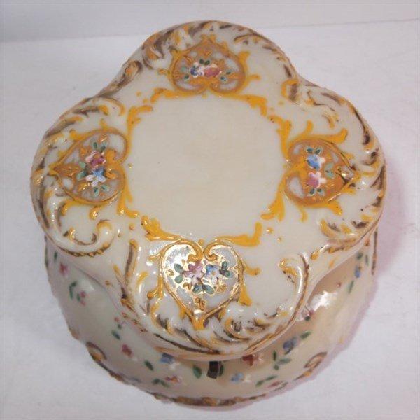 Victorian Bristol glass jewelry casket - 3