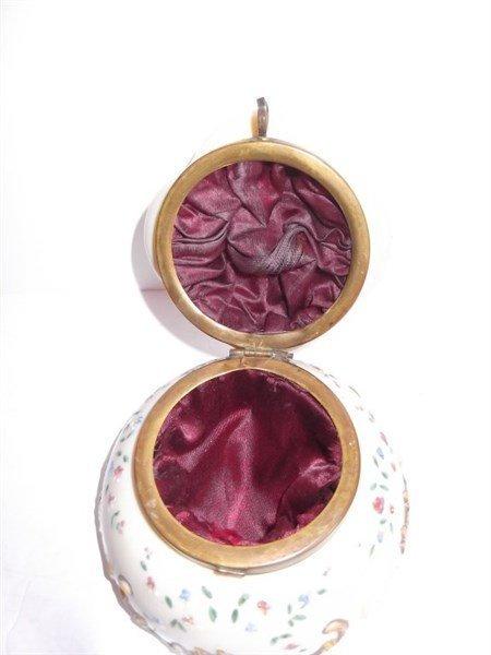 Victorian Bristol glass jewelry casket - 5