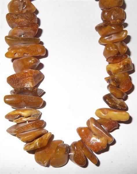 Vintage African amber necklace - 2