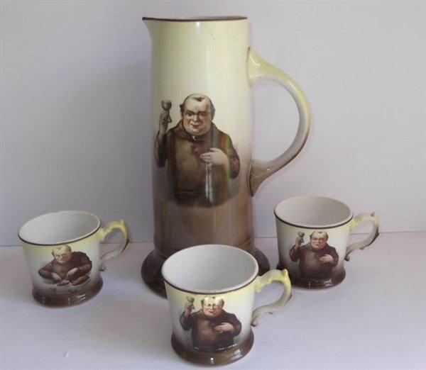 La Francaise porcelain pitcher & beer cups