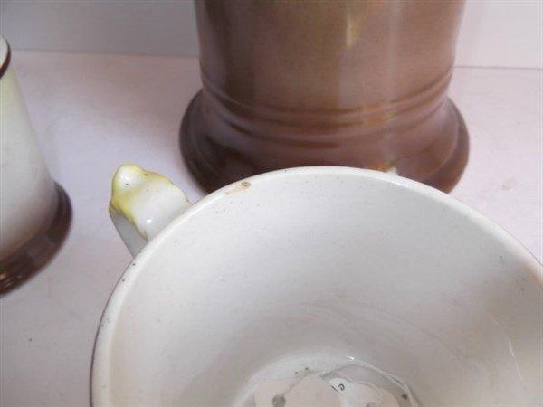 La Francaise porcelain pitcher & beer cups - 3