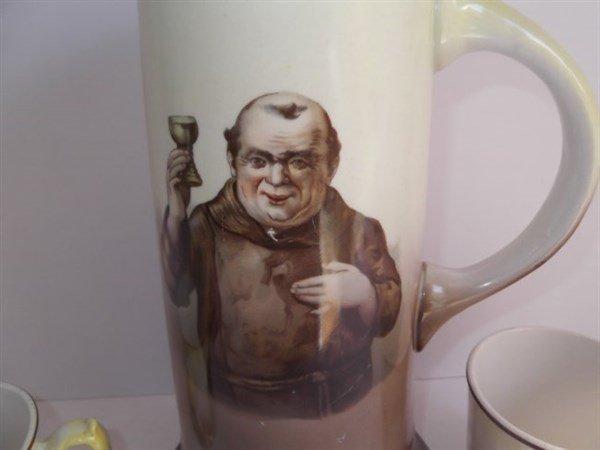La Francaise porcelain pitcher & beer cups - 5