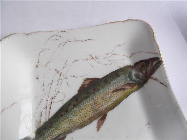 10  Haviland Limoges square fish plates - 10