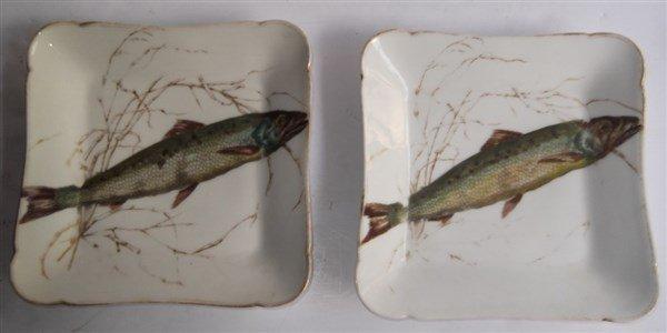 10  Haviland Limoges square fish plates - 9