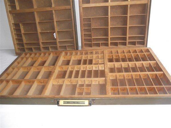 3 Letterpress Printers typeset trays - 3