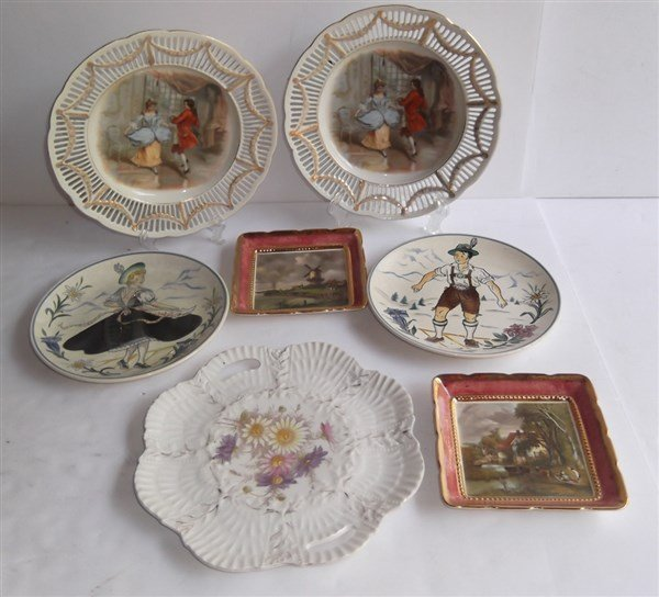 7 piece decorative plates lot