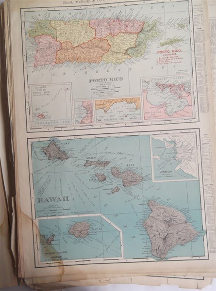 Large collection of over 75 book maps - 10