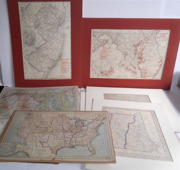 Large collection of over 75 book maps