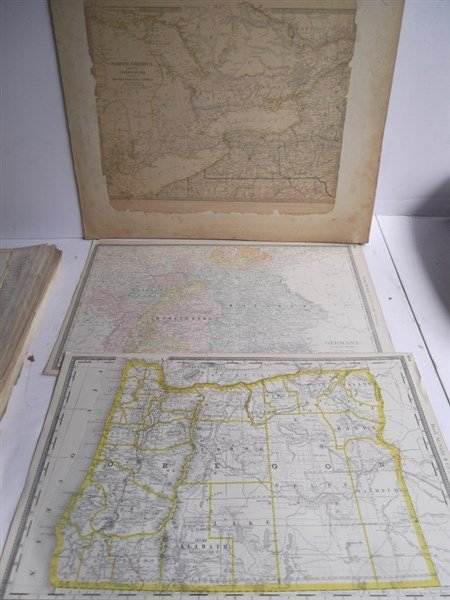 Large collection of over 75 book maps - 3