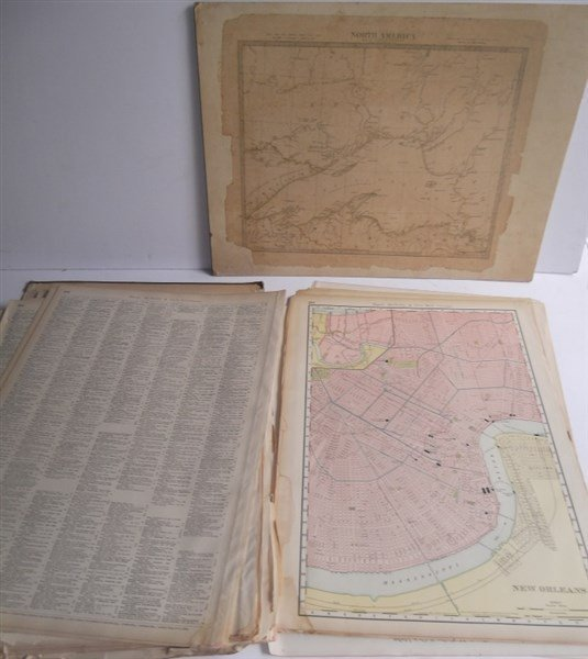 Large collection of over 75 book maps - 4