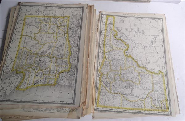 Large collection of over 75 book maps - 6