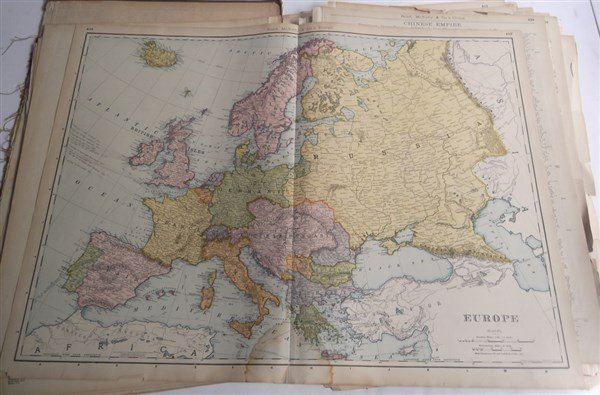 Large collection of over 75 book maps - 8