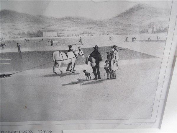 Large lithograph titled Rockland Lake - 2
