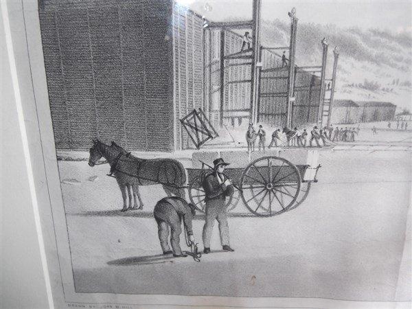Large lithograph titled Rockland Lake - 3