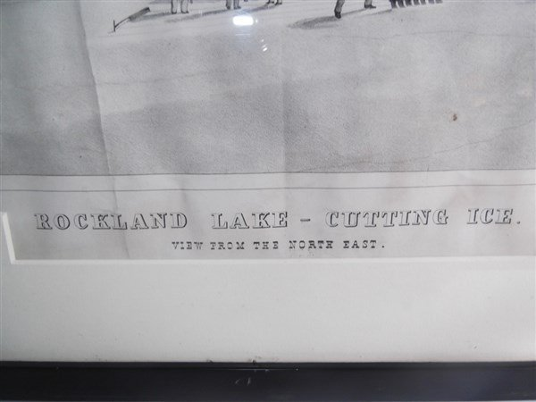 Large lithograph titled Rockland Lake - 5
