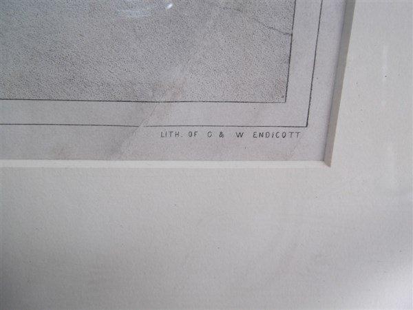 Large lithograph titled Rockland Lake - 6