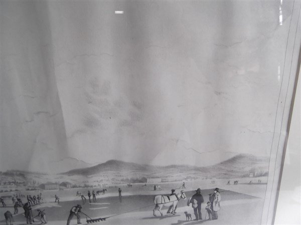 Large lithograph titled Rockland Lake - 8