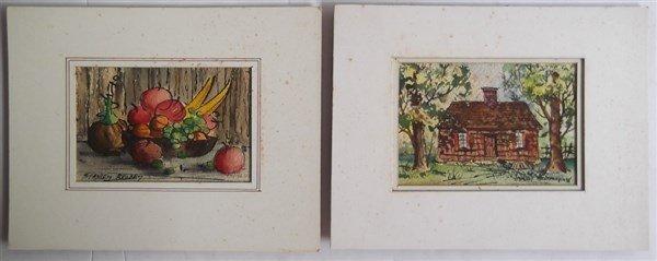6 watercolor paintings - 7