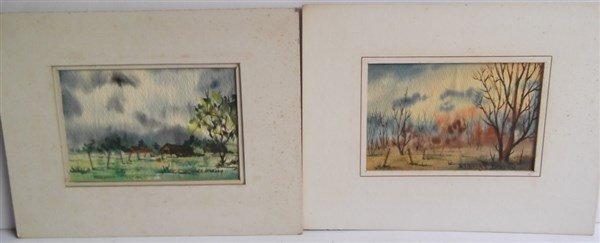 6 watercolor paintings - 8