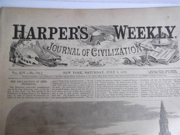 20 1870's Harper's Weekly - 2