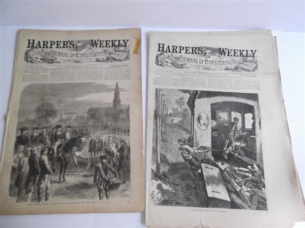 20 1870's Harper's Weekly - 7