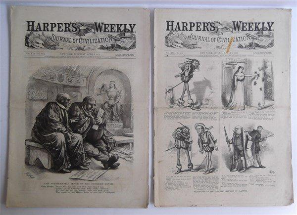 20 1870's Harper's Weekly - 8