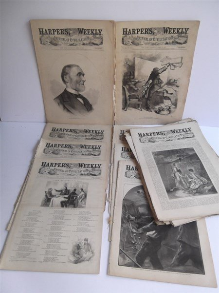 20 1870's Harper's Weekly
