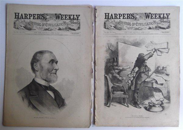 20 1870's Harper's Weekly - 5