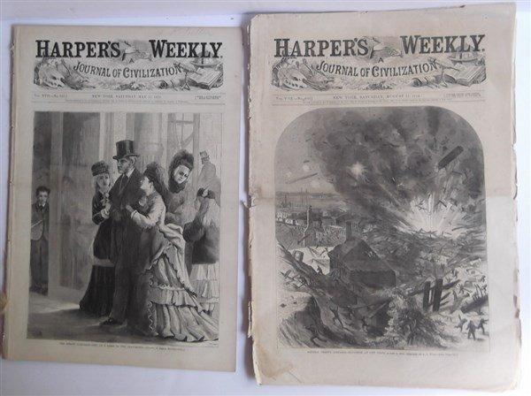 20 1870's Harper's Weekly - 9