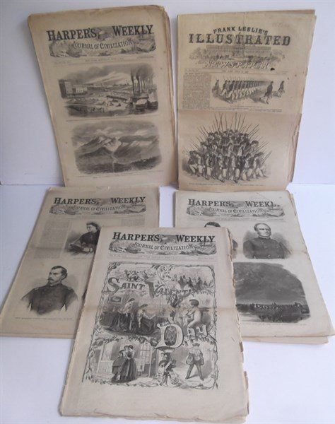 5 1860's Civil War Harper's Weekly